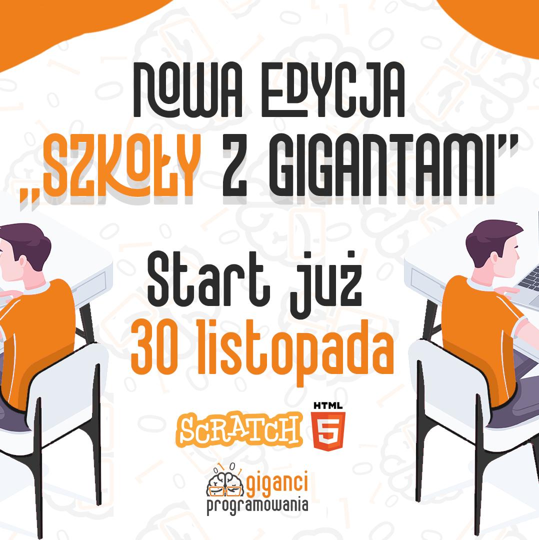 Warsztaty z programowania ONLINE dla uczniów Szkół Podstawowych i Ponadpodstawowych