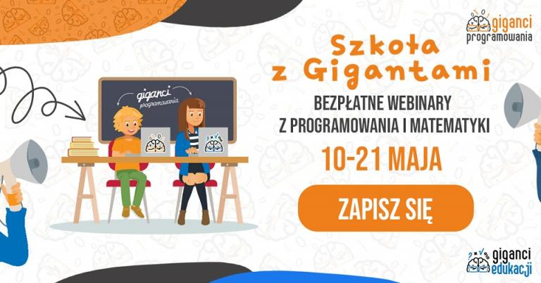 """Darmowa pomoc dla tysięcy dzieciaków. 10 maja rozpocznie się akcja """"Szkoła z Gigantami"""" - portalparentingowy.pl"""
