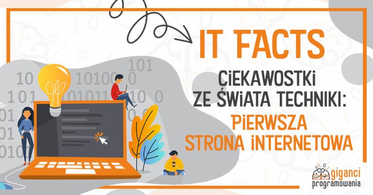 IT-Facts - pierwsza strona internetowa
